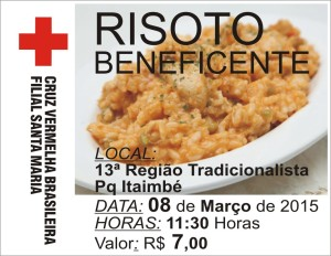 RISOTO BENEFICENTE  CRUZ VERMELHA