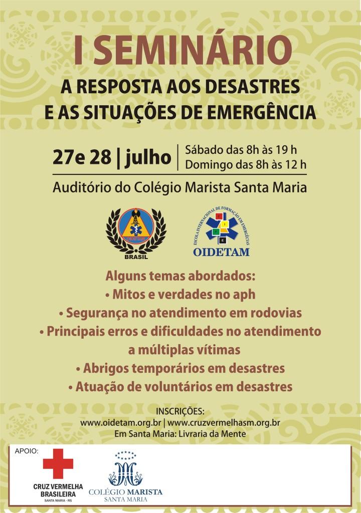 cartaz seminario oidetam brasil